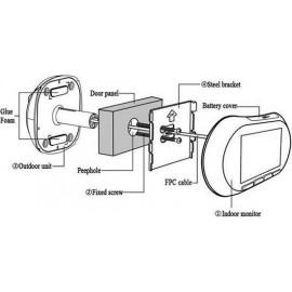 Видеоглазок дверной с Wi-Fi и датчиком движения i-Corder iHome 3 W-Fi (Rollup i3)