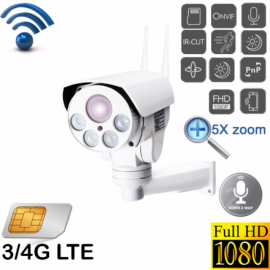 Уличная поворотная 4G Wi-Fi IP камера c 5х (10x) зумом и звуком Millenium 433G PTZ