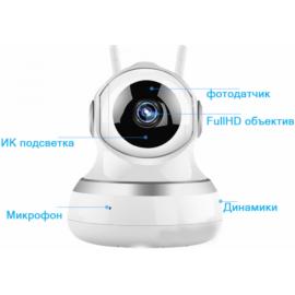 Внутренняя поворотная IP камера 2Mp с микрофоном и динамиком Millenium Smart PTZ