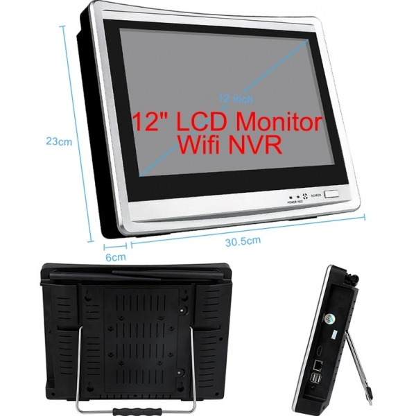 Цифровой wi-fi комплект видеонаблюдения 1080p на 4 камеры MiCam LCD Street